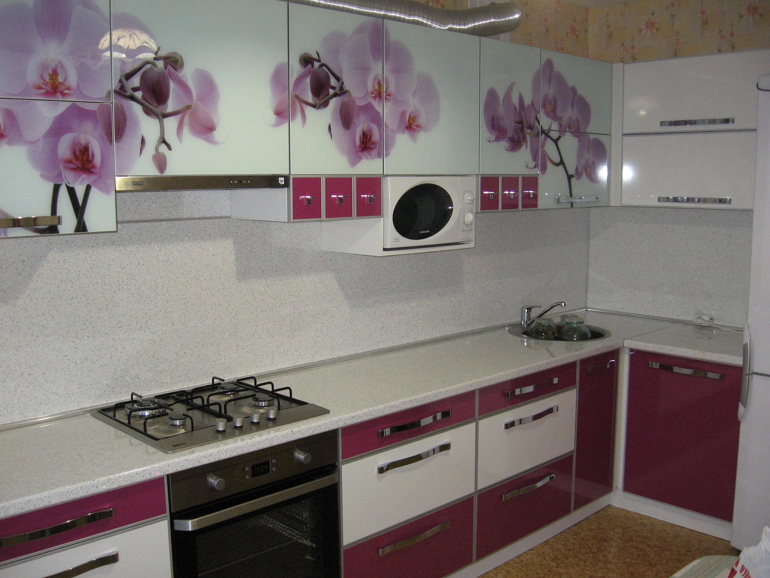 Кухни с орхидеями фото