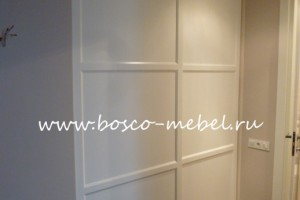 крашеные двери с фрезеровкой для шкафа купе